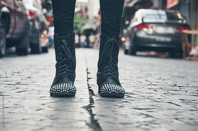 Spiky Leather Boots by Lumina for Stocksy United