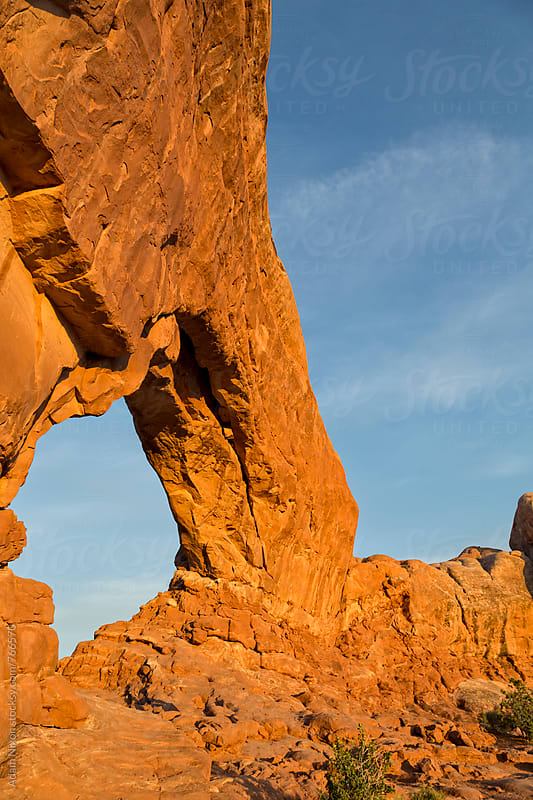 A sandstone arch in Arches National Park, Utah by Adam Nixon for Stocksy United