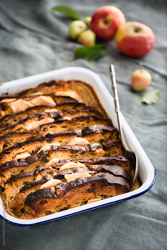 Panettone pudding by Laura Adani for Stocksy United