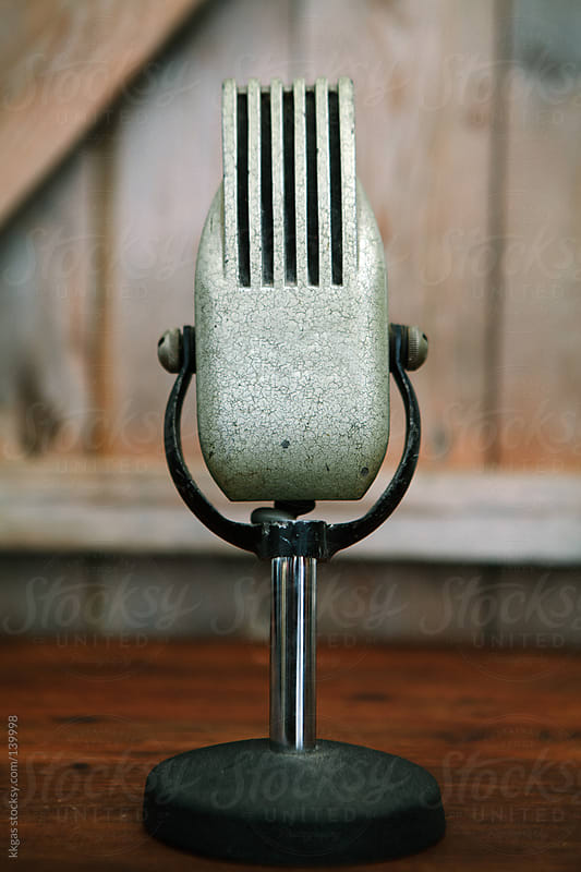 Vintage microphone by kkgas for Stocksy United