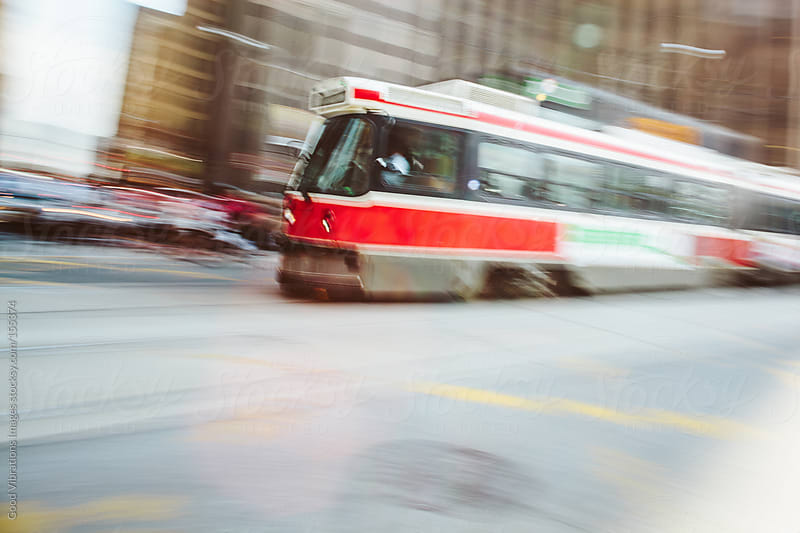 Tram in the city by Good Vibrations Images for Stocksy United