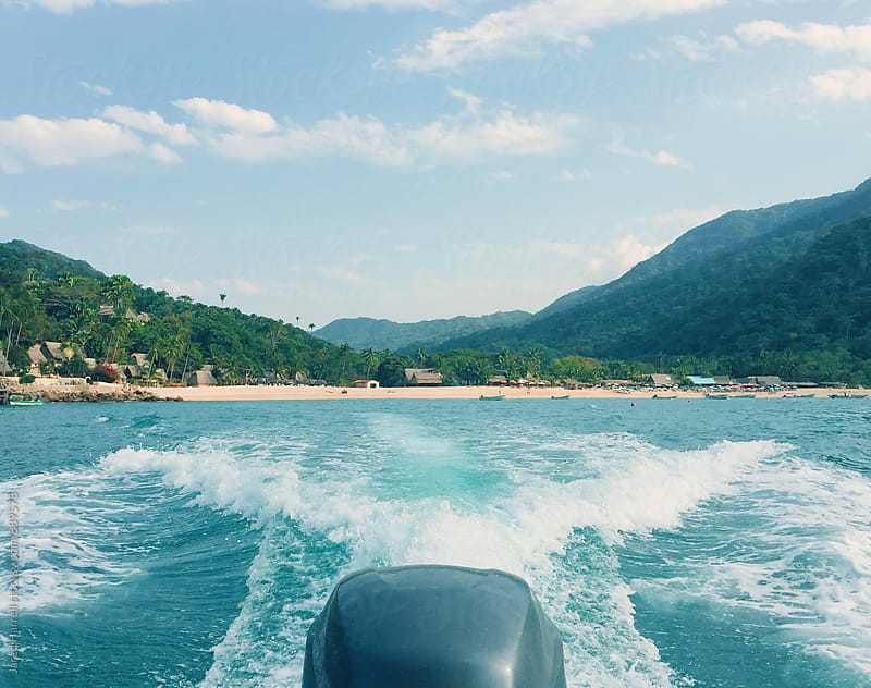 Water Taxi in Yelapa, Mexico  by Jared Harrell for Stocksy United