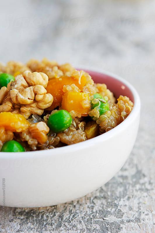 Walnut, Pea and Rosemary Quinoa Salad by Harald Walker for Stocksy United