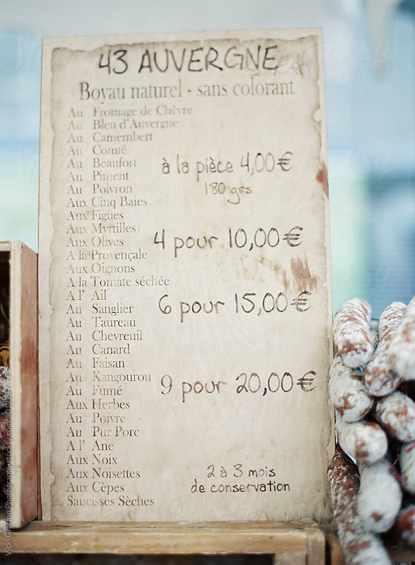 Charcuterie Farmers Market in France  by Vicki Grafton Photography for Stocksy United