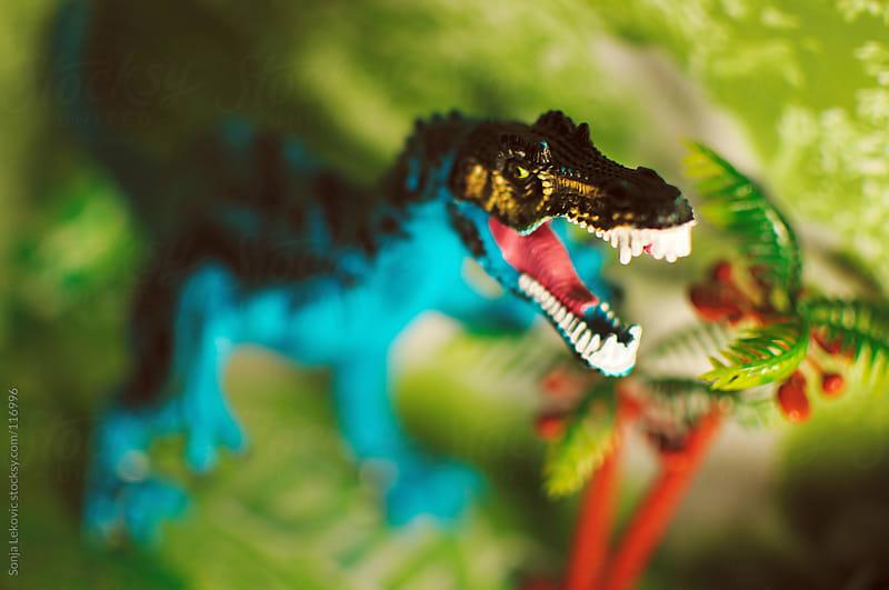 dinosaur toy by Sonja Lekovic for Stocksy United