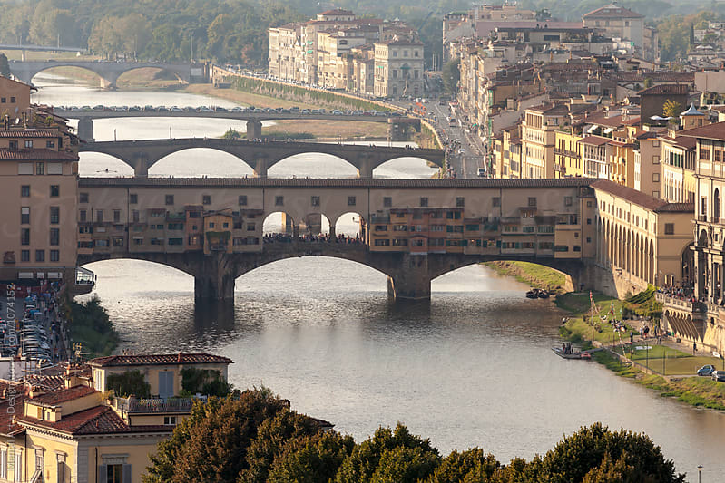 Ponte Vecchio Bridge in Florence, Italy  by Mental Art + Design for Stocksy United