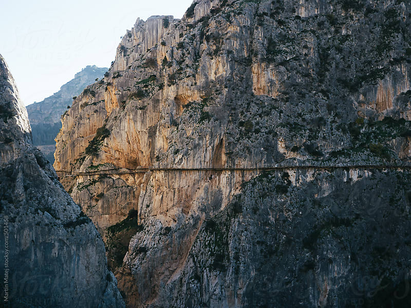 wide shot of caminito del rey path by Martin Matej for Stocksy United