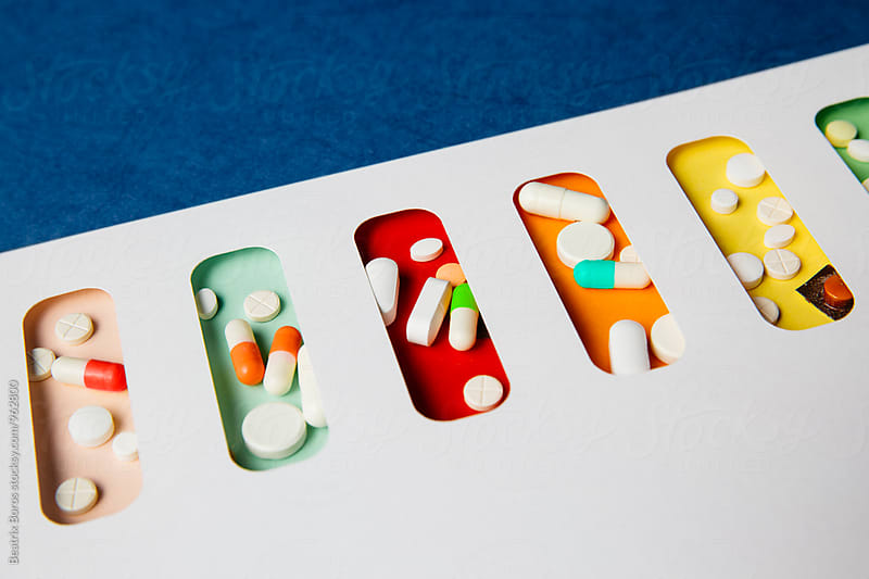 Medicine, pills, drug concept by Beatrix Boros for Stocksy United