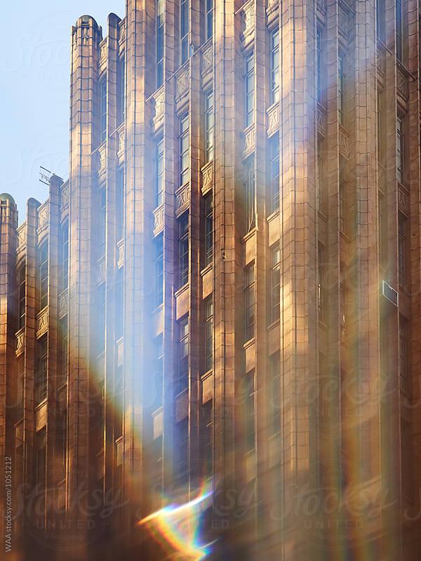 Melbourne Skyscraper in Winter Sun  by WAA for Stocksy United