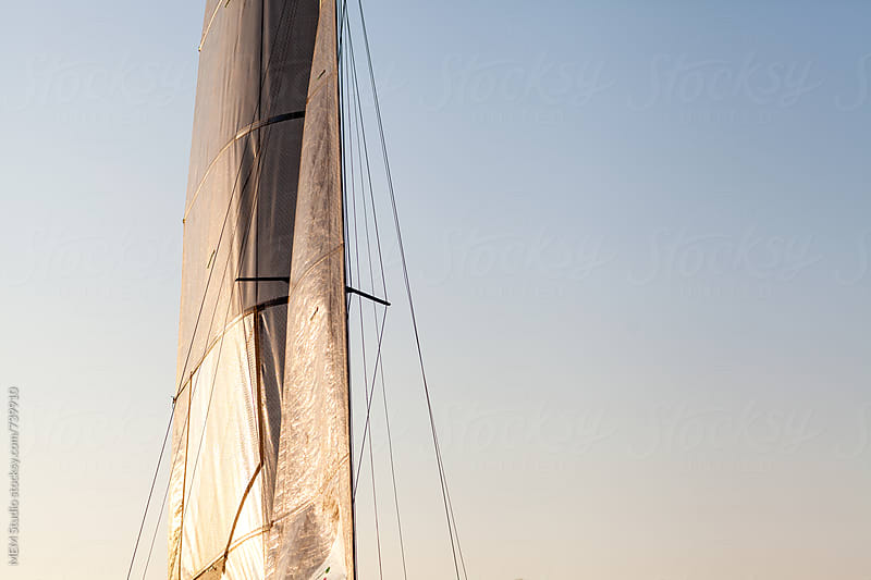main sail on a catamaran f18 by MEM Studio for Stocksy United