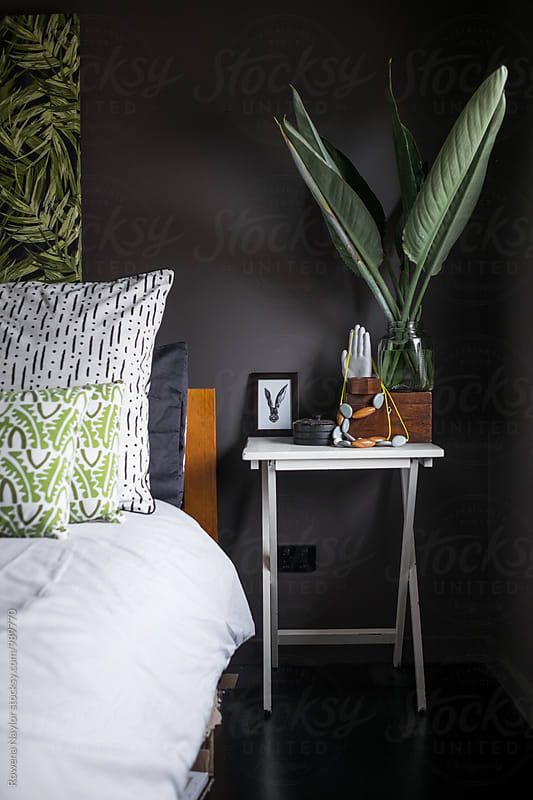 Styled bedroom interior by Rowena Naylor for Stocksy United