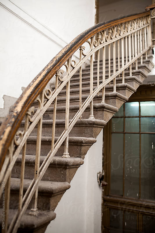 Old spiral stairway by MEM Studio for Stocksy United