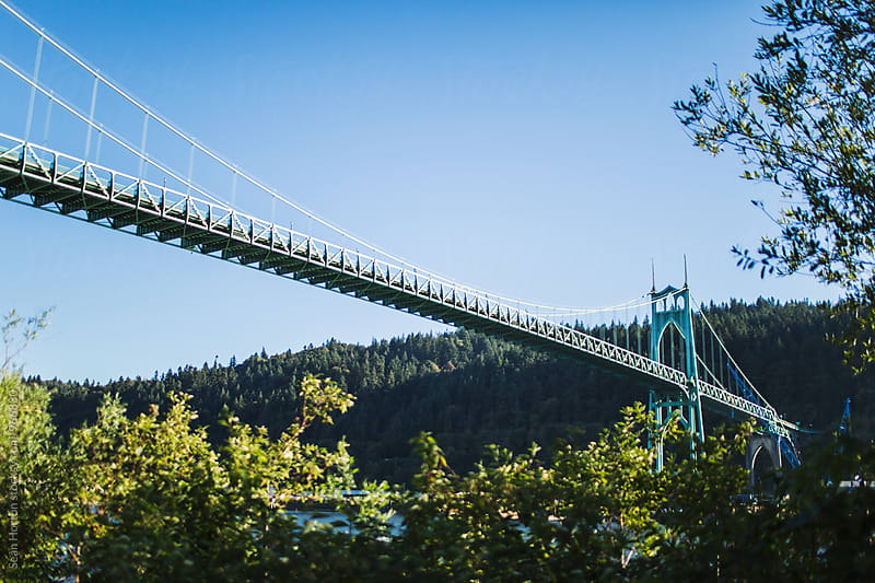 St. Johns Bridge, Oregon - Landscape by Sean Horton for Stocksy United