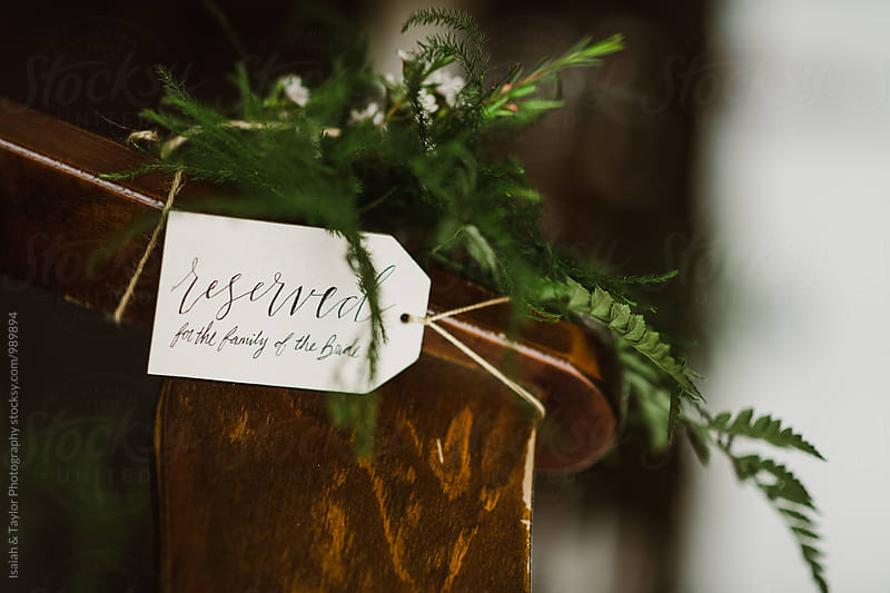 Reserved Ceremony Sign by Isaiah & Taylor Photography for Stocksy United