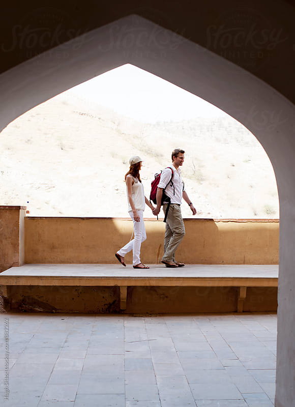 Couple travelling in India. by Hugh Sitton for Stocksy United