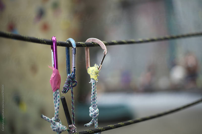 Hooks and rope used for belaying by Carolyn Lagattuta for Stocksy United