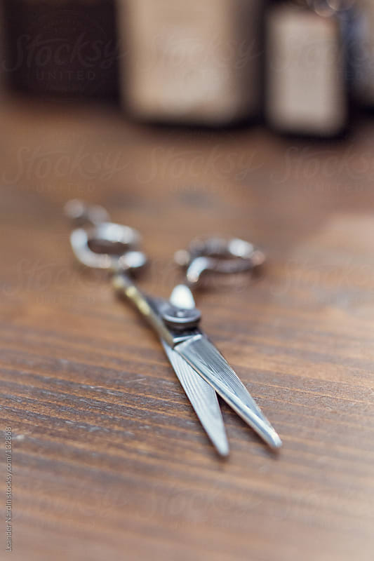 Stylist´s scissors by Leander Nardin for Stocksy United