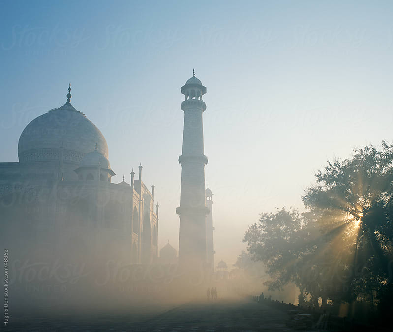 Taj Mahal in the early morning mist. Agra. India. by Hugh Sitton for Stocksy United