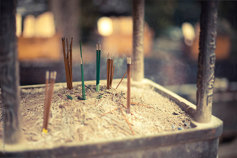 Incense in Koyasan, Japan by Jon Rodriguez for Stocksy United