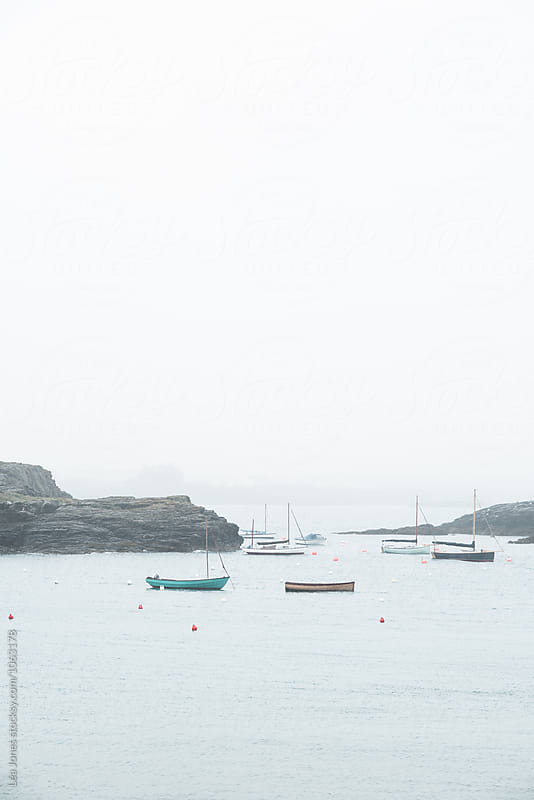 sailing boats on the sea by Léa Jones for Stocksy United