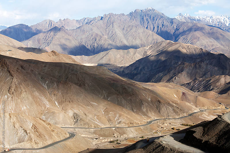 A high Altitude mountain road in Ladakh,India by PARTHA PAL for Stocksy United