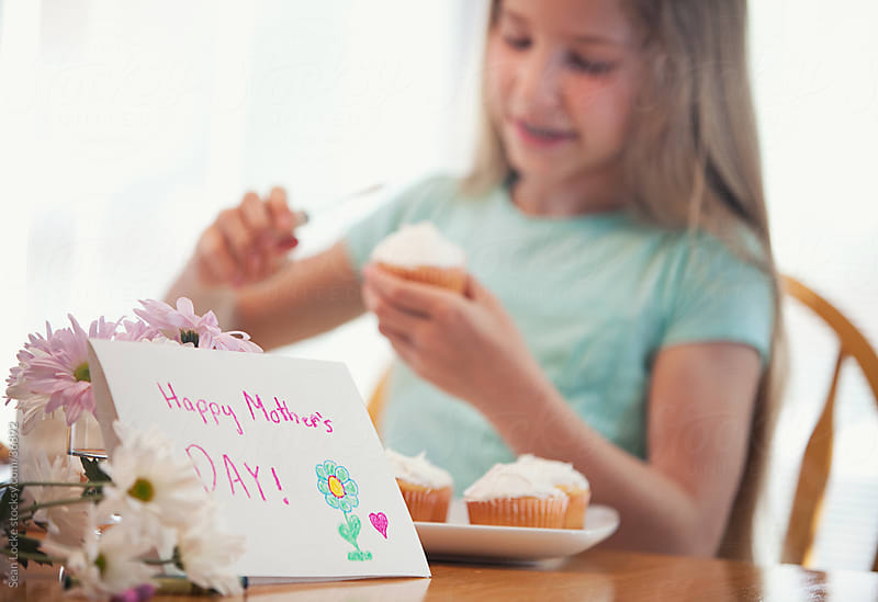 Mother's Day: Making Cupcakes for Mother's Day by Sean Locke for Stocksy United