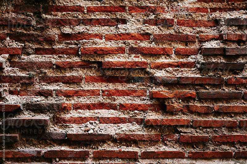 old brick wall by Atakan-Erkut Uzun for Stocksy United