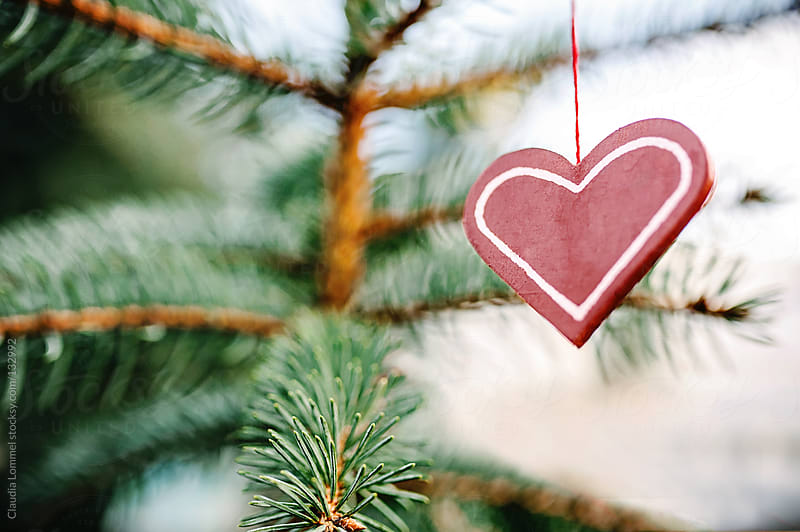 Heart Shaped Christmas Decoration by Claudia Lommel for Stocksy United