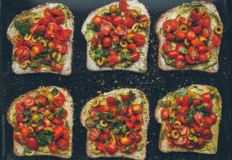 Bread With Vegetables  by Mosuno for Stocksy United