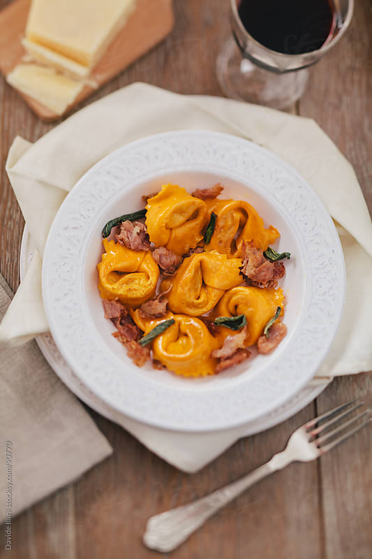 Ravioli with smoked ham by Davide Illini for Stocksy United