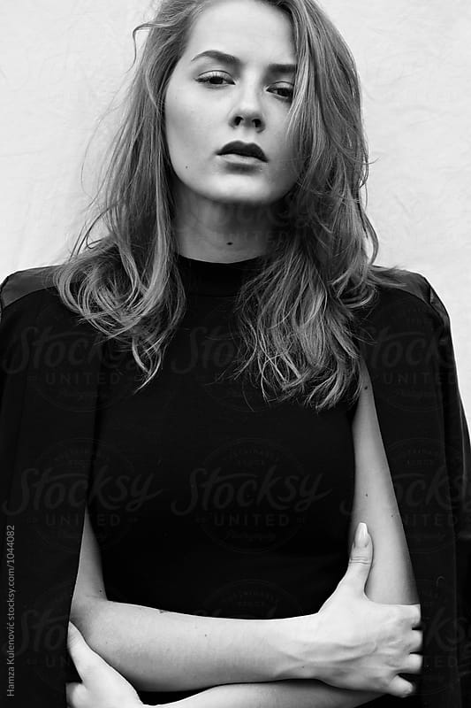 Minimalistic and fashion portrait of a young woman - 2 by Hamza Kulenović for Stocksy United