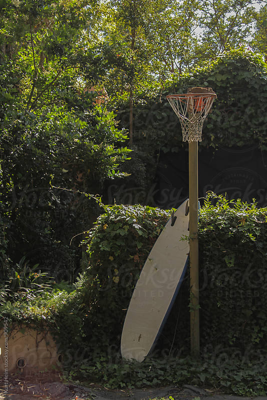 Backyard Basketball Hoop by Kurt Heim for Stocksy United