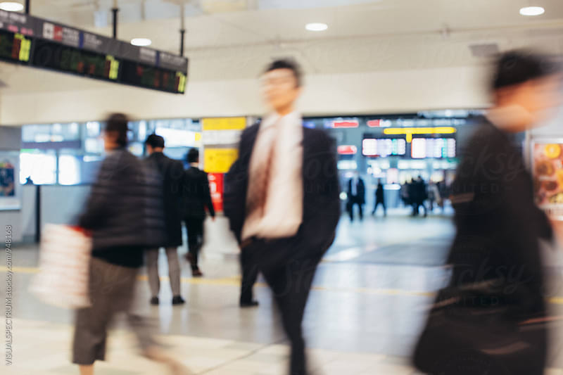 Busy Tokyo Train Station by Julien L. Balmer for Stocksy United