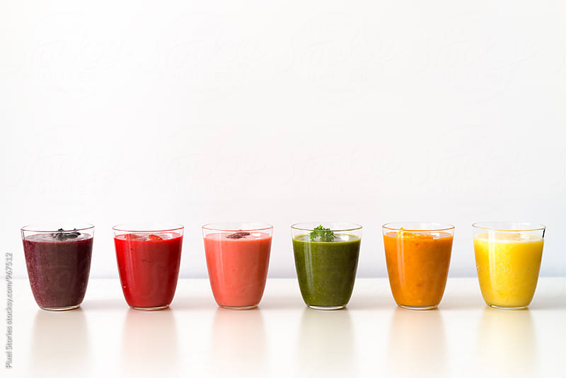 Colorful smoothies by Pixel Stories for Stocksy United