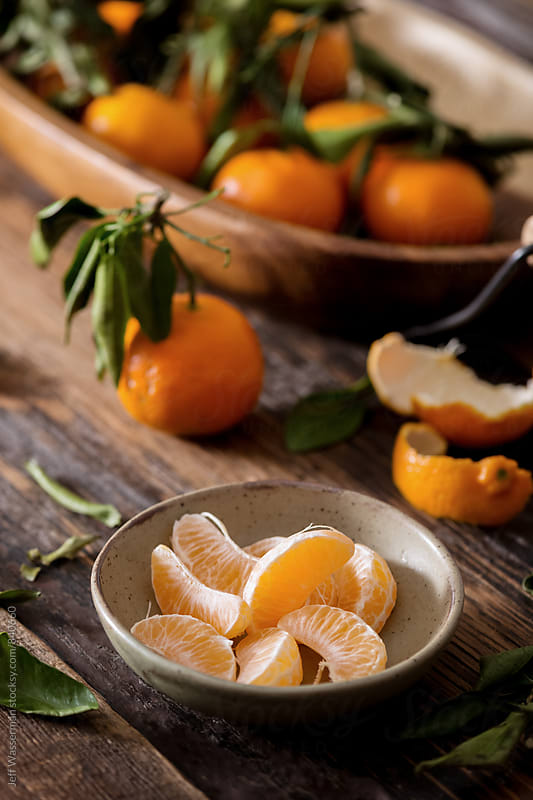 Clementine Oranges Segments by Jeff Wasserman for Stocksy United