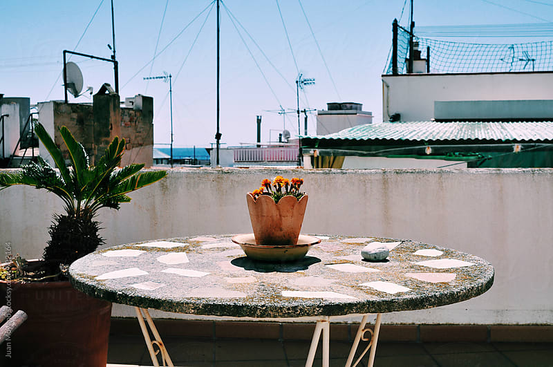 terrace facing the Mediterranean by Juan Moyano for Stocksy United