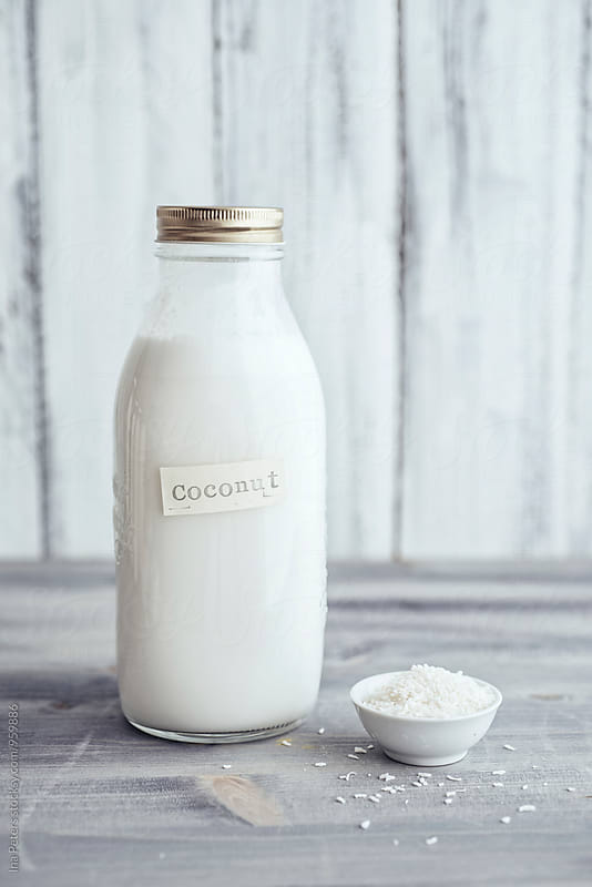 Food: Vegan Coconut milk by Ina Peters for Stocksy United