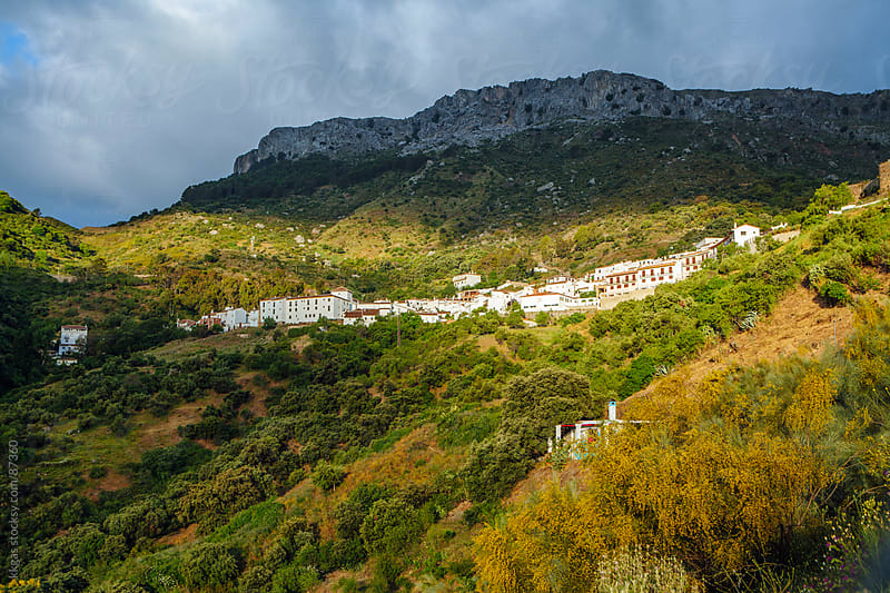 Early morning view of the small mountainous village of Benadalid Malaga in Spain by kkgas for Stocksy United