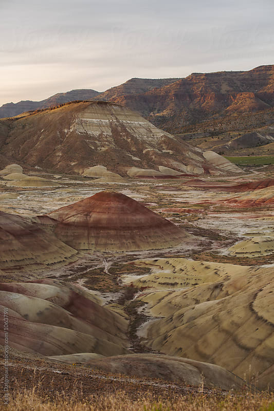 Sunset at The Painted Hills National Monument by Kate Daigneault for Stocksy United