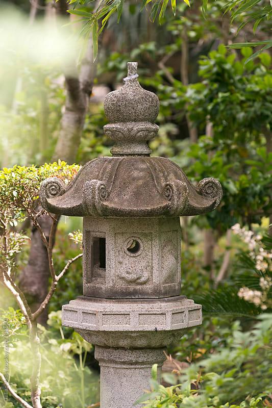 japanese garden lantern by Gillian Vann for Stocksy United