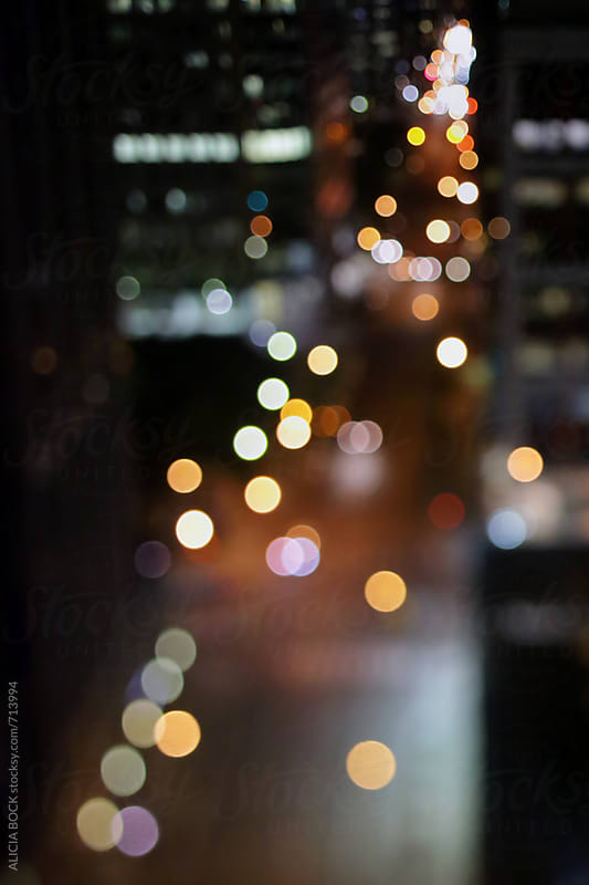 City LIghts In Downtown Toronto At Night by ALICIA BOCK for Stocksy United