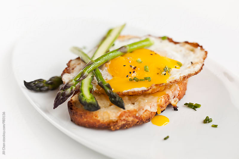 Egg, Cheese, Asparagus Crostini by Jill Chen for Stocksy United