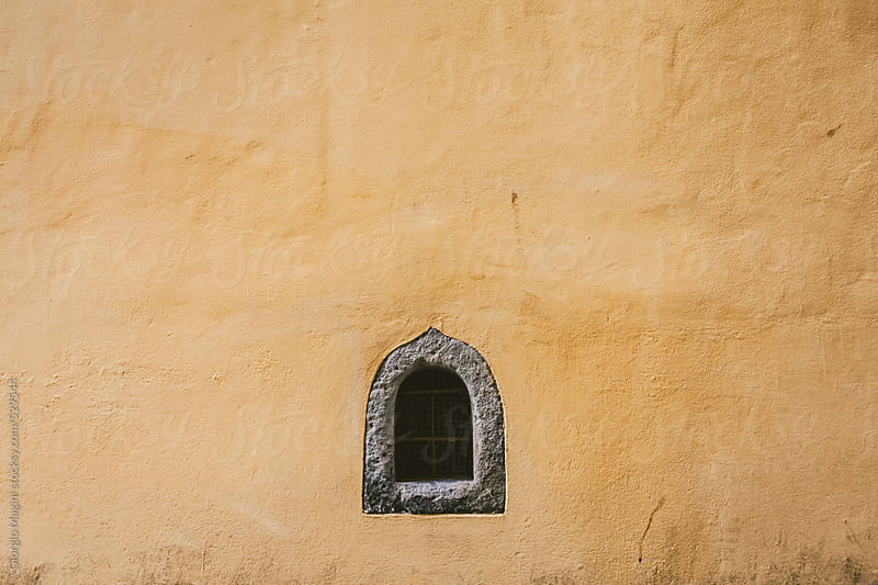 Small Window-Aperture on Old Plaster Wall by Giorgio Magini for Stocksy United