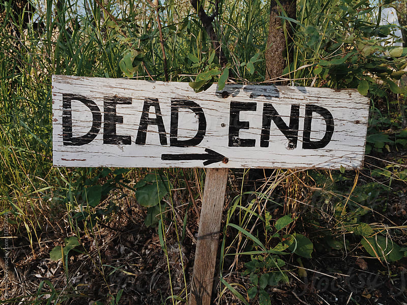 Old dead end sign by Carey Shaw for Stocksy United