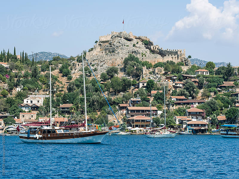 Byzantine Castle at Simena, Kalekoy, Kas,Turkey by DV8OR for Stocksy United
