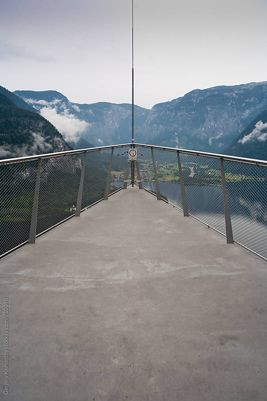 Skywalk above Hallstat. by Gergely Kishonthy for Stocksy United