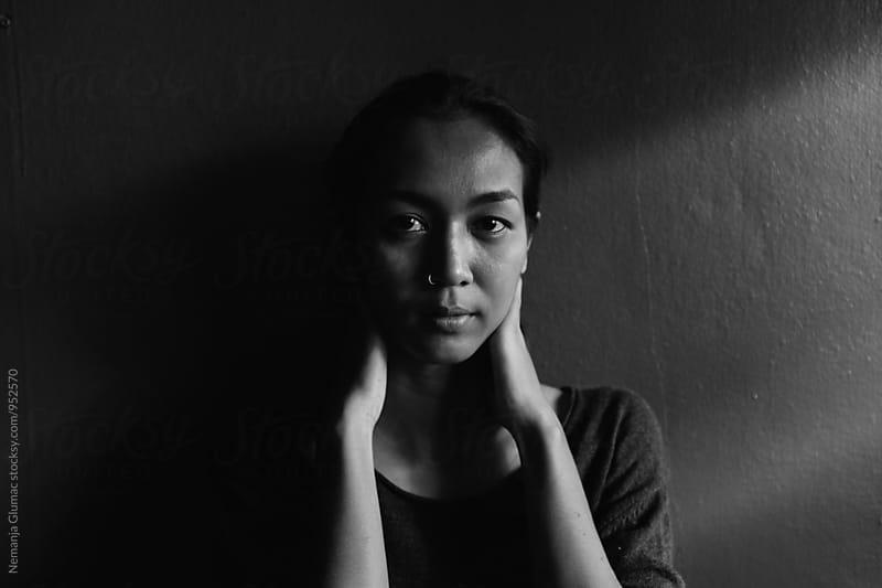 Black and White Portrait of a Beautiful Thai Woman by Nemanja Glumac for Stocksy United