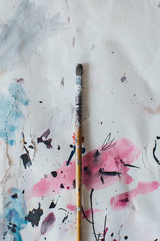 Artist's paint brush by Kristin Duvall for Stocksy United
