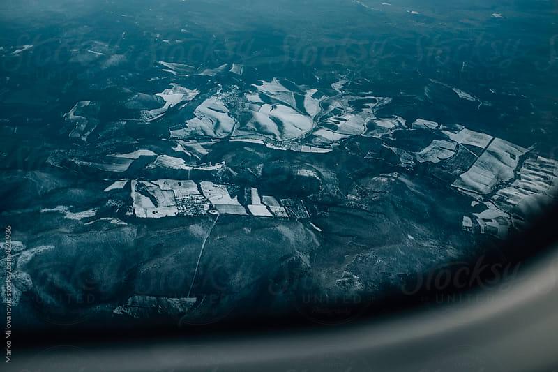 View from the airplane window by Marko Milovanović for Stocksy United