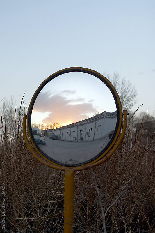 On the outskirts of the mirror by ChaoShu Li for Stocksy United